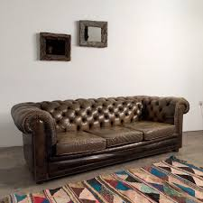 Leather Chesterfield Sofa by French Vintage Chesterfield Sofa
