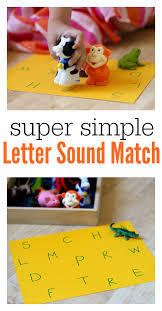 super simple letter sounds matching no time for flash cards