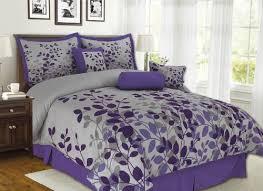 Grey Comforters Queen 7pcs Queen Fresca Purple And Gray Bedding Comforter Set Kinglinen