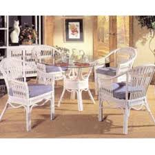 White Wash Table And Chairs White And Whitewash Rattan And Wicker Dining Room Furniture Sets
