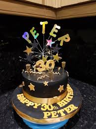 golden birthday cake ideas