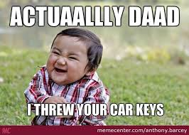 Lost Keys Meme - car keys lost look 4 toddler by anthony barcey meme center