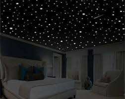glow in the ceiling bedroom decor wall decal glow in the