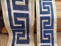Greek Key Trim Drapes Designer Navy Blue Greek Key Trim Navy Blue Greek Key Trim Greek