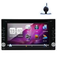 rear camera car gps map sat navigation radio digital touchscreen