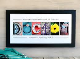 med school graduation gift doctor school graduation gift in alphabet letter