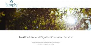 simply cremations 20 funeral home website designs we loved in 2017