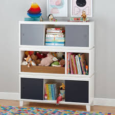 White Bookcase With Toy Box by Bookcase With Storage Bins Home Design