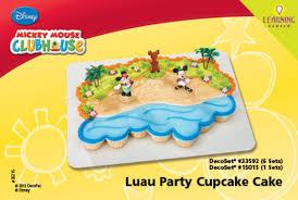 Luau Cake Decorations Decopac Mickey And Friends Luau Party Decoset Cupcake Cake