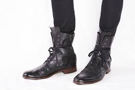 lace up motorcycle riding boots common projects black lace up combat boot with zipper worn one