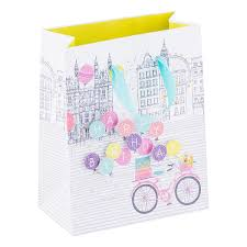 balloons gift small birthday bike balloons gift bag the container store
