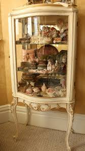 old glass doors curio cabinet french curioinet shocking pictures inspirations