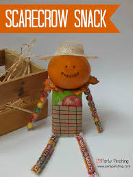 Thanksgiving Class Party Ideas Scarecrow Snack Tutorial Tangerine Juice Box Candy Perfect For