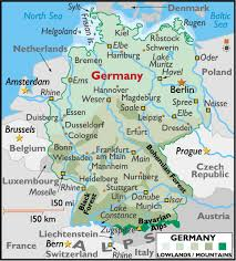 map of germany and surrounding countries with cities map of germany showing major cities major tourist