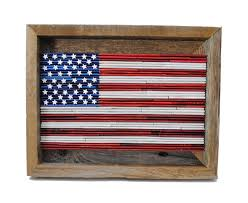 Country American Flag Small American Flag Rustic Framed Art Made From Recycled