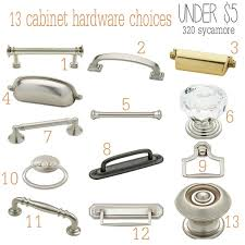 Cabinet Pulls And Knobs 13 Cabinet Hardware Knobs Handle Choices Under 5 320 Sycamore