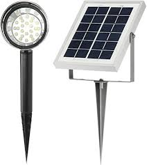 high lumen solar spot lights microsolar lithium battery 24 led high lumen solar spotlight
