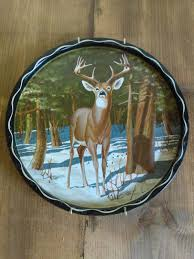 whitetail deer vintage cabin wall decor james l artig serving