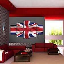 online shop 5 piece canvas art british flag printed wall art home
