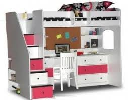 bunk beds with stairs and desk white loft bed 1 modernday photo