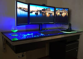 Computer Built Into Desk Water Cooled Pc Built Into Desk Walyou