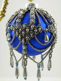 beaded ornaments vintage decor by shivano