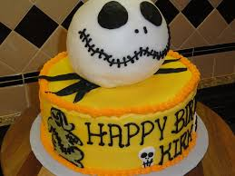 Halloween Happy Birthday by Jack Skellington Says Happy Birthday Cakecentral Com