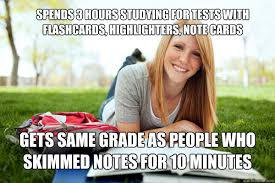 College Test Meme - highlight all the things dumb studying college girl quickmeme