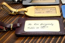 luggage tag favors best leather luggage tags wedding favors ideas styles ideas