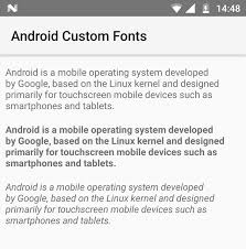 android fonts android using custom fonts