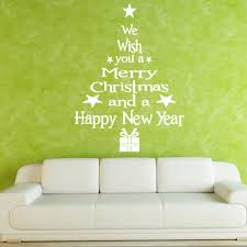wall art stick on shenra com christmas tree letters stick wall art decal and mural point sticker