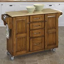 kitchen island with wood top wood kitchen islands carts you ll wayfair