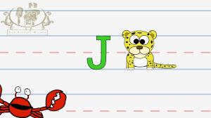write the letter j alphabet writing lesson for children the