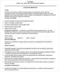 Healthcare Resume Sample by Assistant Manager Skills Resume Ecordura Com