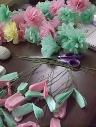 Making Flowers Out Of Tissue Paper For Kids - would be easy to diy glue tissue paper flowers to a large