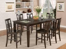 Kitchen Table Tall by Dining Room Espresso Finish Tall Kitchen Table And Chairs Set