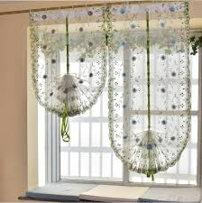 organza embroidery pattern flowers balloon curtain tulle blinds