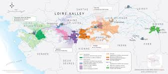 Wine Map Of France by Loire Valley Candid Wines