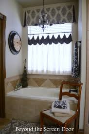 Valance For Bathroom Master Bathroom Makeover And New Window Treatment Beyond The