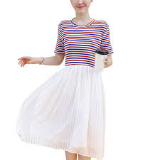 two pieces costume chiffon long skirt junior dress