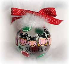 mickey mouse ears hat on your personalized family ornament