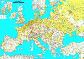 Physical Europe Map by 2016 Collins Essential Road Atlas Europe Amazon Co Uk Entrancing