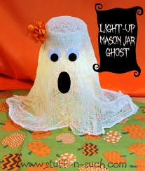 Halloween Jars Crafts by Stuff N Such By Lisa Halloween Mason Jar Light Up Ghost