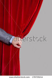 Curtain Place Hand Open Stage Red Curtain On Stock Photo 463868441 Shutterstock