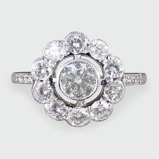 diamond flower rings images Contemporary art deco style diamond flower cluster ring in 18ct jpg