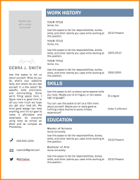 Secretary Resume Template 9 How To Use A Resume Template In Word 2010 Villeneuveloubet