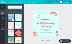 Software For Invitation Card Making Online Naming Ceremony Invitation Card Maker Free Canva