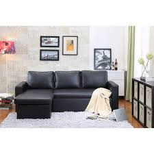 Cheap Black Leather Sectional Sofas by The Hom 2 Piece Black Georgetown Bi Cast Leather Sectional Sofa