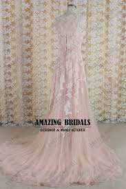 blush wedding dress blush lace tulle wedding dress wedding gown
