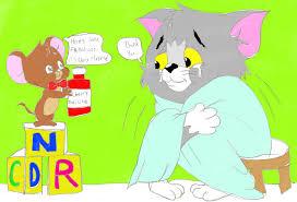 tom jerry flu season cartoonlovingfeline